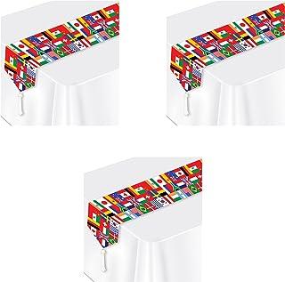 Beistle flag table runner, Multicolored