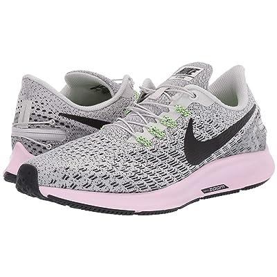 Nike Air Zoom Pegasus 35 FlyEase (Vast Grey/Black/Pink Foam/Lime Blast) Women