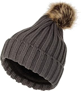 WITHMOONS Fleece Ribbed Knit Pom Beanie Winter Hat Slouchy Cap CZP0011