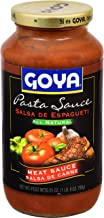 Goya Foods Pasta All Natural Sauce, Meat, 25 Ounce (Pack of 12)