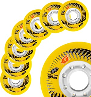 Hyper Wheels Concrete +G - 8 Wheels - 84A - N1 Inline Skate Wheels in The World - 72MM, 76MM, 80MM Sizes - for Fitness, Freeride, Slalom, Urban