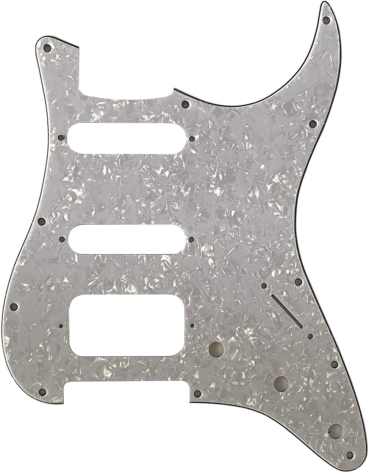 For Fender 11 Sctew Stratocaster Start HSS Guitar Pickguard 4 Ply Red Pearl