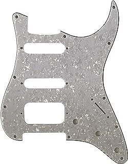 Golpeador de guitarra Fender 11 Sctew Stratocaster Start HSS, Perla blanca de 4 capas.