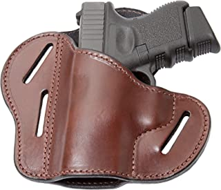 Relentless Tactical The Ultimate 3 Slot OWB Leather Gun Belt Holster - Fits S&W Shield/Glock/Springfield XD
