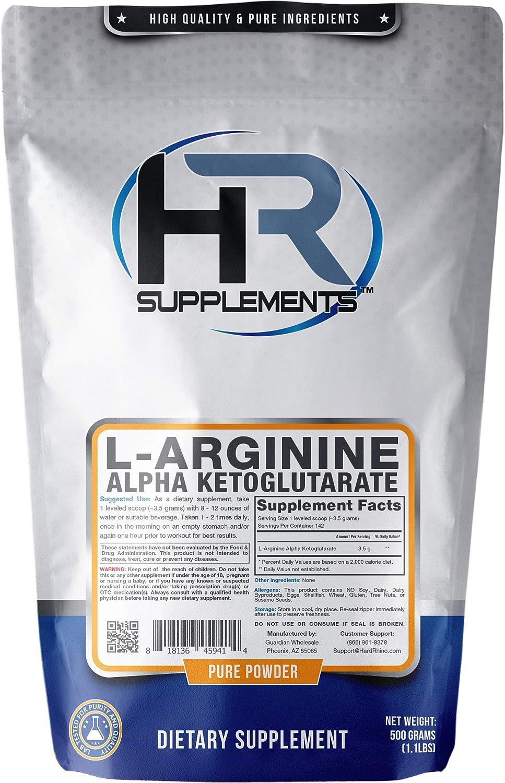 HR mart Supplements L-Arginine Alpha Powder AAKG Ketoglutarate 500 Reservation