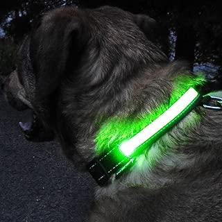 GlowHERO LED Light Up Dog Collar - The Original Glow Collar - High Visibility Durable and Reflective LED Dog Collar w/3 LED Modes