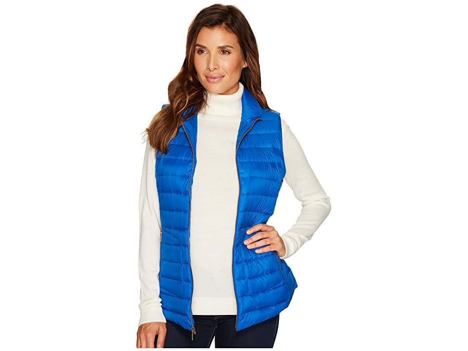Pendleton Zip Front Vest (Bright Blue) Women