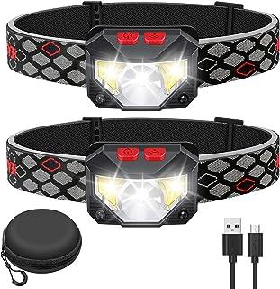 Kucoal LED Rechargeable Headlamp,2-PACK Waterproof Flashlight Motion Sensor Control Head lamp, 1000 Lumen Bright 30 Hours ...