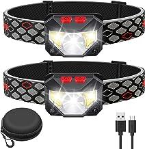 Kucoal wiederaufladbare LED-Stirnlampe, wasserdichte Taschenlampe, Bewegungsmelder, 1000 Lumen, hell, 30 Stunden Laufzeit,...