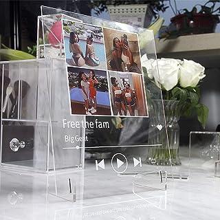 Acrylic Music Photo Album  DIY Glass Album Cover  Photo Frame Memory Retro Photo for Anniversary Mother Birthday Valentine...