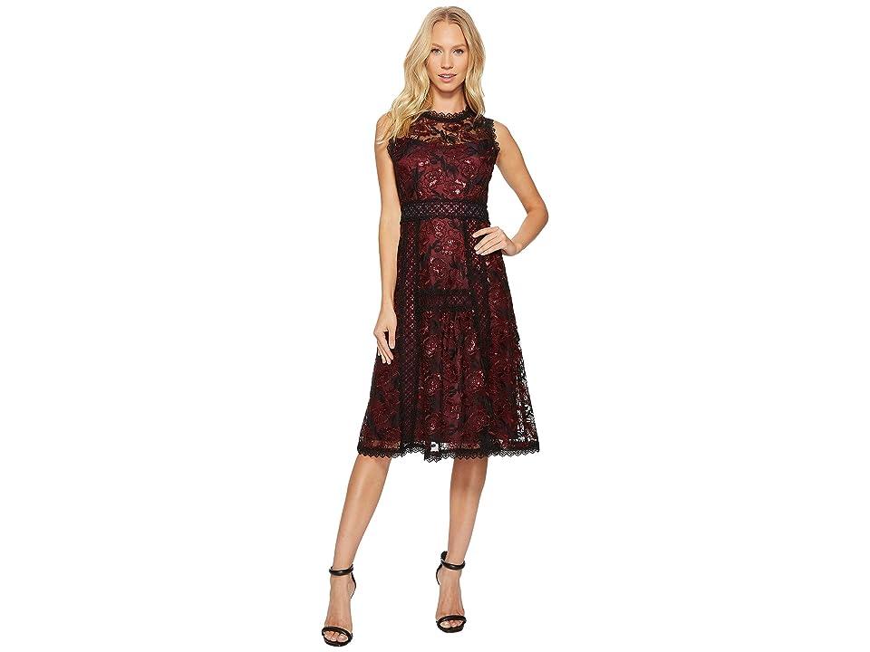 Nanette Lepore Ruby Dress (Black/Scarlet) Women