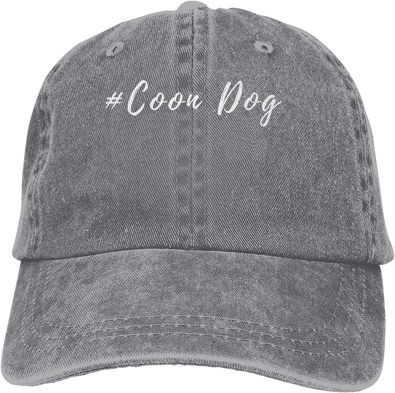 Coon Dog Baseball Cap Trucker Hat Retro Cowboy Dad Hat Classic Adjustable Sports Cap for Men&Women Gray