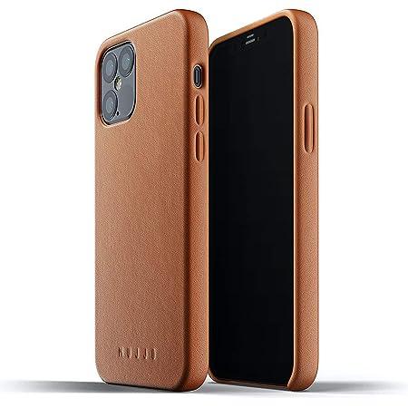 Mujjo Funda de Piel Lisa para iPhone 12 Pro 12 MAX, marrón claro