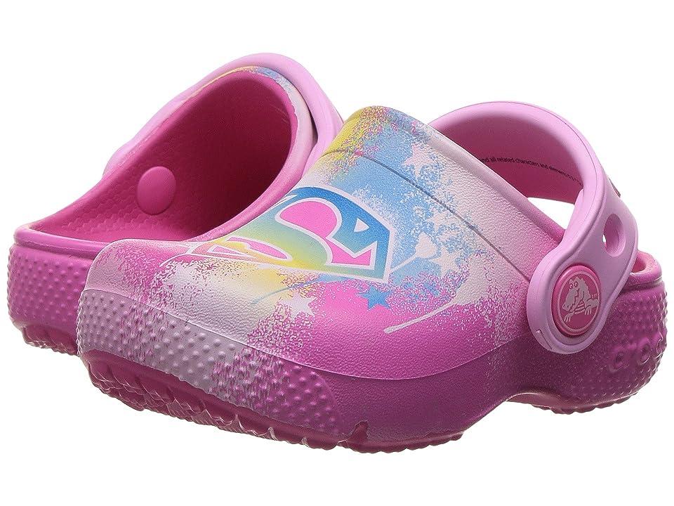 Crocs Kids CrocsFunLab Supergirl (Toddler/Little Kid) (Candy Pink) Girl