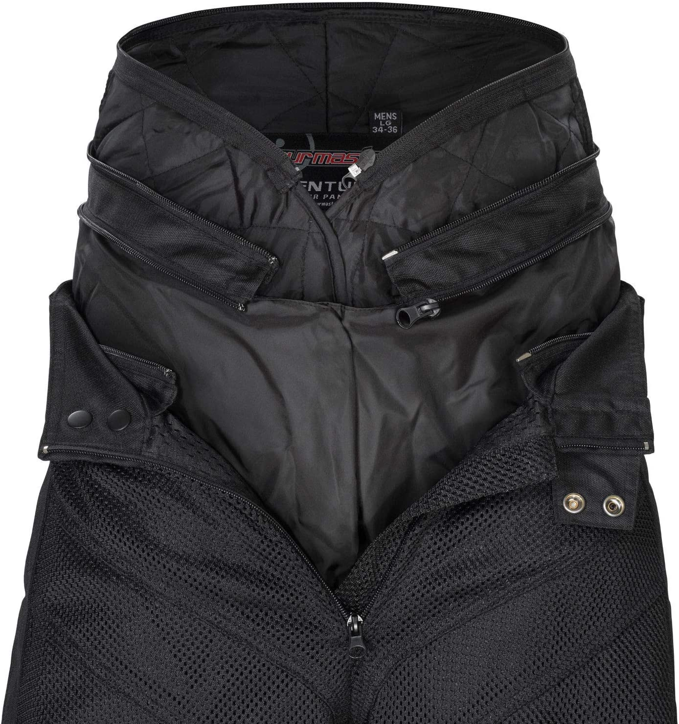 Black, Short XX-Large Tourmaster Venture Air 2.0 Mens Textile Motorcycle Pant