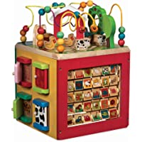 Battat Wooden Activity Cube Discover Farm Animals Center