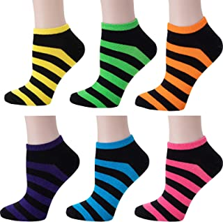 Luriesal No Show Socks for Women Ladies Colorful Short Ankle Socks Cotton Every Day Athletic Low Cut Socks
