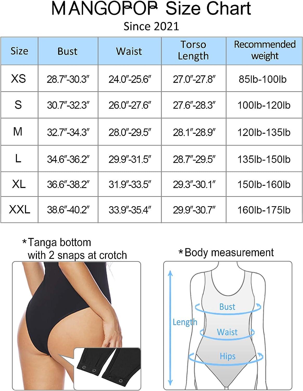 MANGOPOP Women's Sleeveless Double Lined Sexy V Neck Tank Tops Bodysuits Jumpsuit