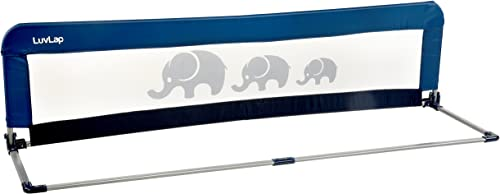 LuvLap Bed Rail Guard for Baby Safety (158cm x 44cm) -1 Pc -(Blue)
