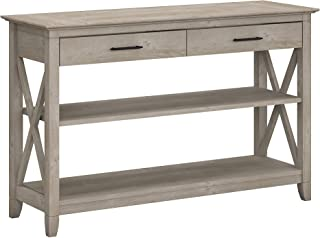 Bush Furniture Key West Console Table with Drawers and...