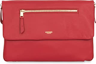 """Knomo Mayfair Luxe Elektronista, 10"""" Digital Clutch/Shoulder Bag, with Device Protection, RFID Pocket and KNOMO ID, Chilli"""