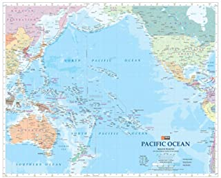 Pacific Ocean Wall Map - 35