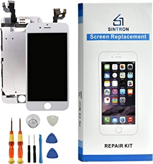 Sintron OEM Reemplazo de pantalla LCD - para iPhone 8 Plus blanco completamente ensamblado que incluye piezas originales Cámara frontal, sensor de proximidad, auricular, pantalla LCD + herramientas y guía