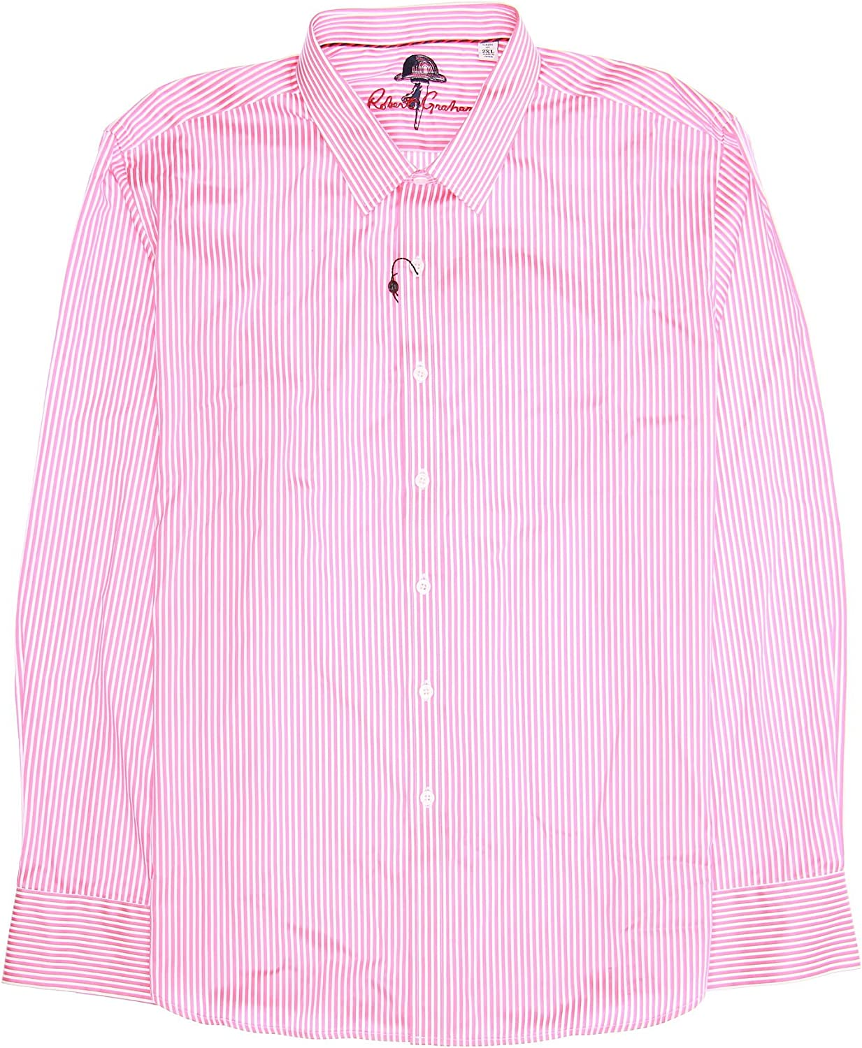Robert Graham 'Crosswall' Mens Mauve Striped Button Be super welcome Down Shirt Free shipping anywhere in the nation