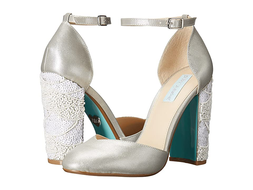 Blue by Betsey Johnson Sybil (Silver Shimmer) High Heels