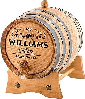 Personalized - Custom Wine Oak Aging Barrel - Barrel Aged (5 Liters)
