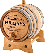 Personalized Wine Oak Aging Barrel - Custom Engraved (20 Liters)