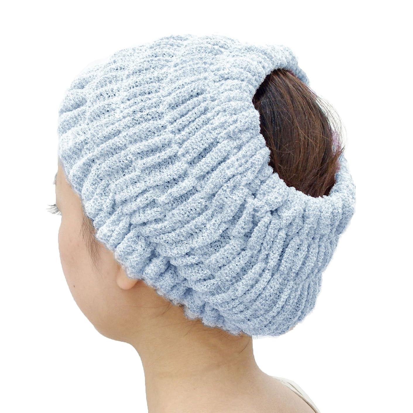 複雑なボランティア非常にオカ(OKA) プリスベイス エピ 乾きやすいバスヘアターバン ダークブルー フリーサイズ PLYS base epi(ターバン ヘアバンド 髪留め)