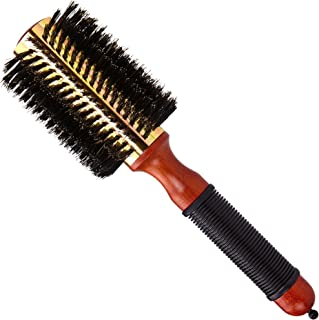 """Medium Round Blow Dry Brush - Boar Bristle, Thermal Metal Barrel, Professional Anti-Static Roller Hair Brush for Styling and Blow Drying - Bonus Sectioning Pick - 16 Row, 2.75"""" - By Cantor"""