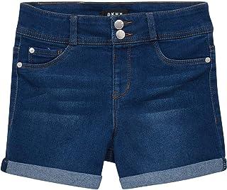5 Pocket Stretch Denim Jeans Shorts DKNY Girls Shorts Big Girl