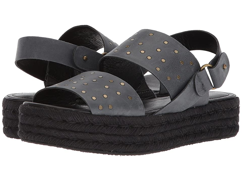 Kelsi Dagger Brooklyn Devon Espadrille Sandal (Black Goat Leather) Women