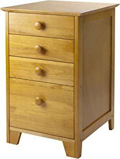 Winsome Wood Honey Pine Filing Cabinet - Extra Storage Drawers