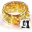 SUNNEST 44Ft Waterproof LED Copper Wire Lights
