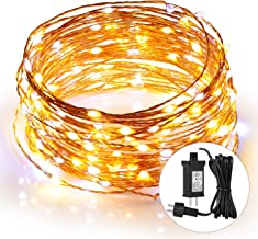 SUNNEST LED Fairy Lights, 44Ft 120leds Waterproof Copper Wire Lights with Power Adapter, String Light for Bedroom Indoor Outdoor Warm White Ambiance Lighting for Patio Wedding, Christmas decorations