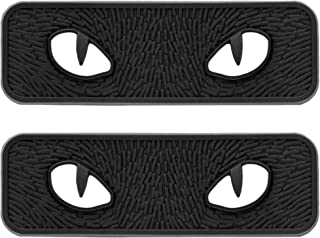 Glow in The Dark Eyes PVC Morale Patch, Tactical Military Morale Appliques Badges with Hook Fasteners Backing 3.2 x 1 inch Pack of 2 (Black)