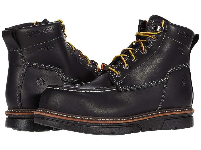 Wolverine  I-90 DuraShocks Moc-Toe CarbonMAX 6 Work Boot (Black) Mens Work Lace-up Boots