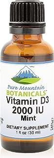 Flavored Vitamin D Drops – Mint Flavored Liquid Vitamin D3-2000iu per Serving - 1oz Bottle