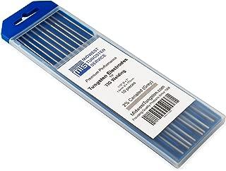 "TIG Welding Tungsten Electrodes 2% Ceriated 1/16"" x 7"" (Grey, WC20) 10-Pack"