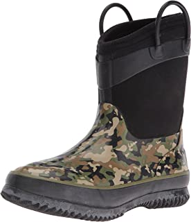 Western Chief Kids Cold Rated Neoprene Boot, Camo Green, 11/12 M US Little Kid