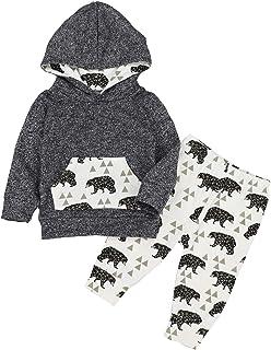 Toddler Infant Boy Clothes Dinosaur Sweatshirt Sweatsuit...