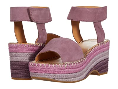 FRYE AND CO. Amber Espadrille Wedge (Lavendar Suede) Women