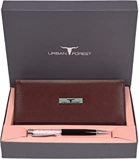 Urban Forest Nelly Ladies Leather Wallet Combo Gift Set for Men