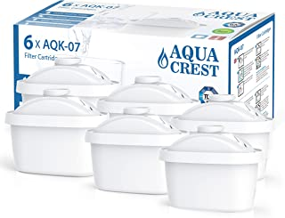 AQUACREST TÜV SÜD Certified Maxtra Refill Catridge, Removes Lead, Arsenic and More, Compatible with Brita Mavea Maxtra, Maxtra+, 105731, 1001122 (Pack of 6)