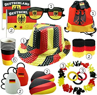 int!rend Fanartikelen Duitsland set   23-delig   fanartikelen set voor sportevenementen zoals bijvoorbeeld voetbal, handba...
