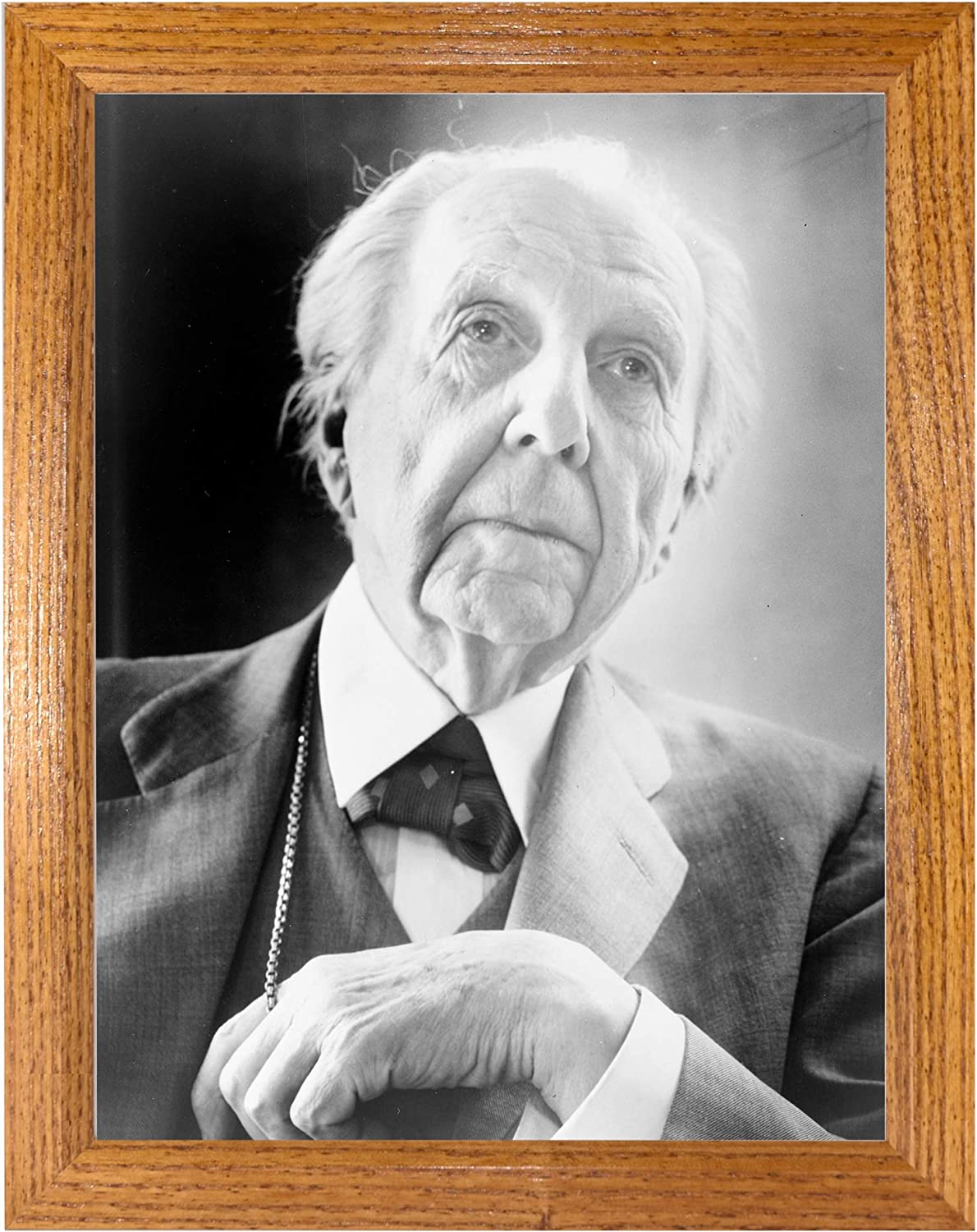 Frank Lloyd Wright Photograph in a Historica Honey Frame Brown Challenge the lowest price of Japan 2021 model -
