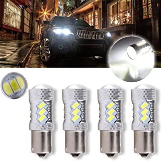 cciyu 1156 BA15S 60W Cree LED 15 5730 SMD Bulb Replacement fit for Reverse Backup Light,4 Pack Xenon White